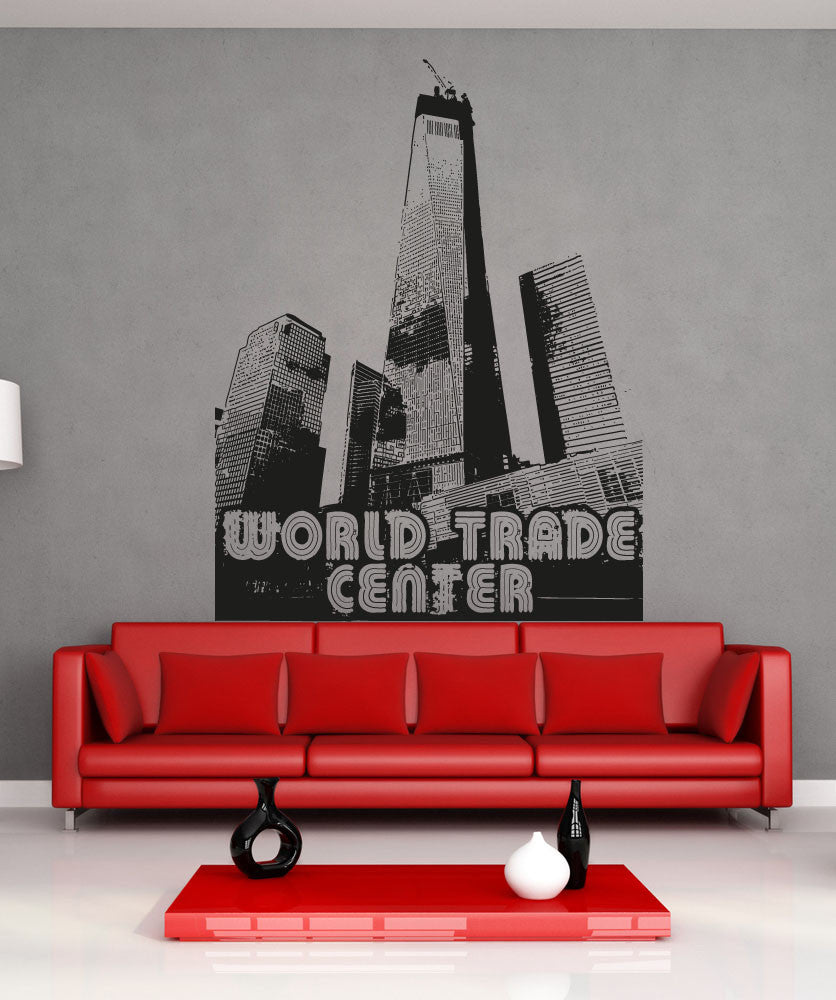 Vinyl Wall Decal Sticker World Trade Center #OS_AA1505
