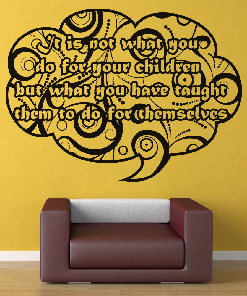 Vinyl Wall Decal Sticker Children Independence Quote #OS_AA1533