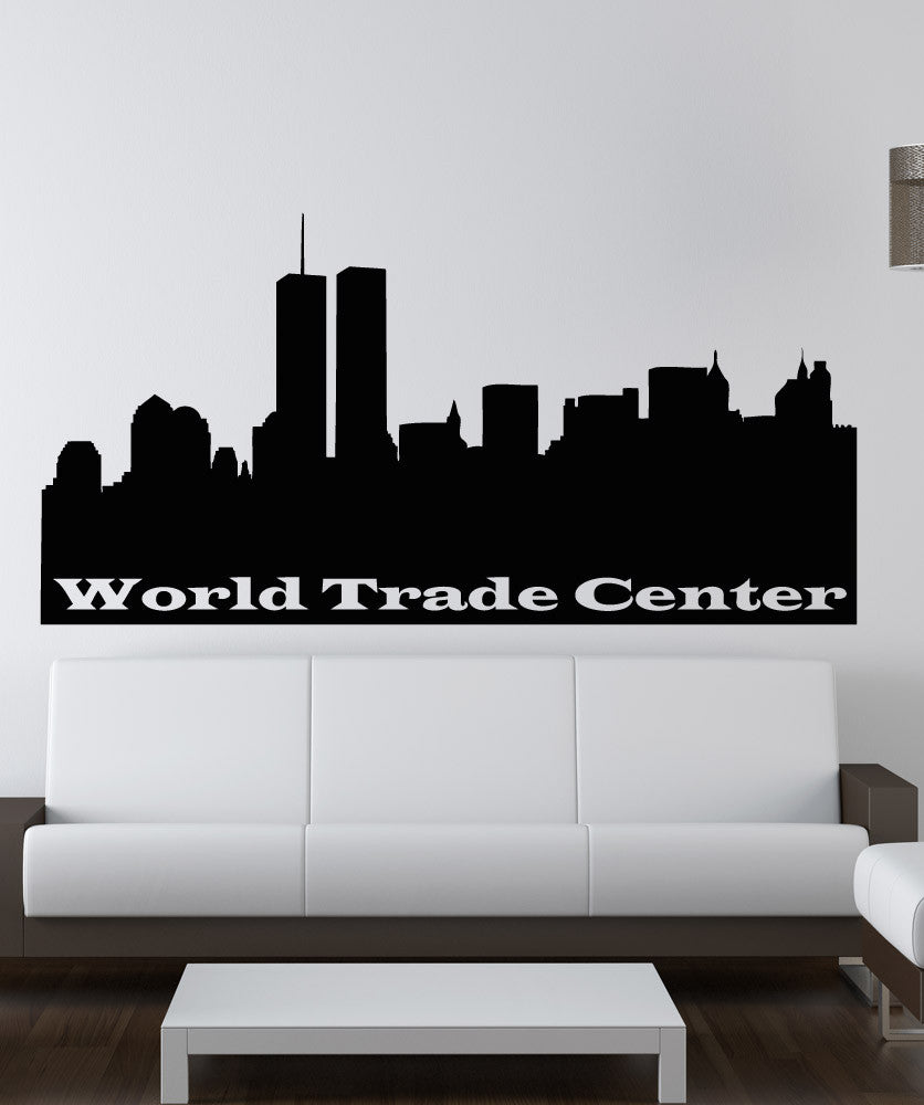 Vinyl Wall Decal Sticker World Trade Center Sign #OS_AA1538