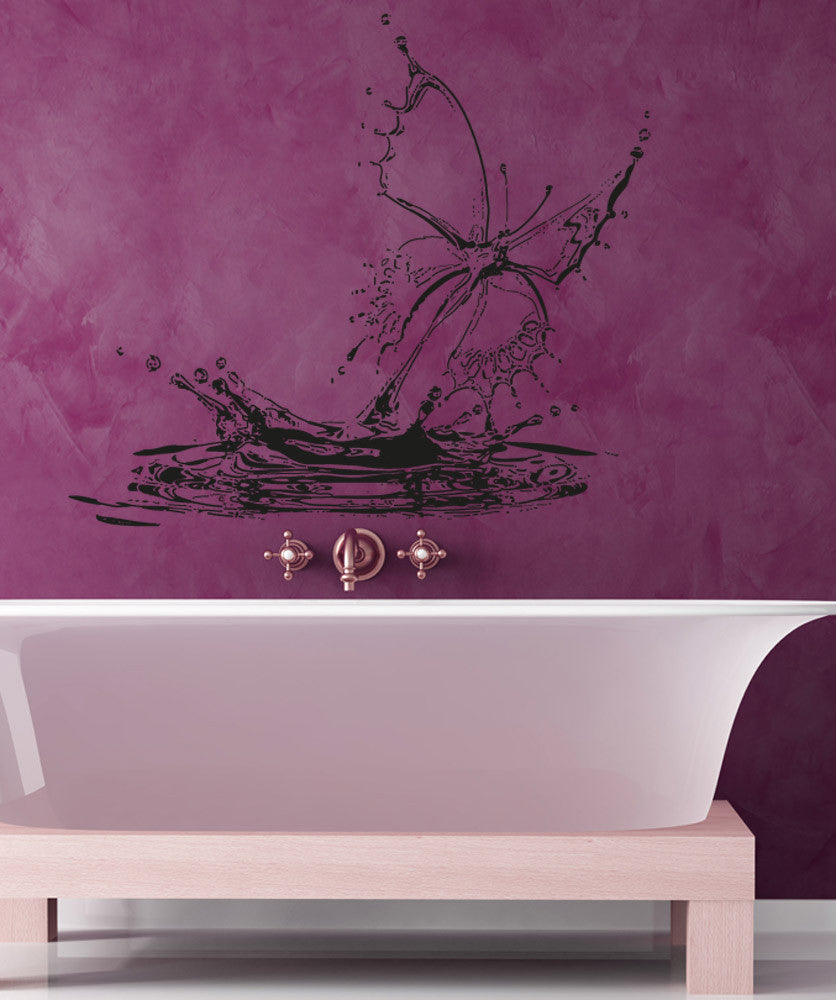 Vinyl wall decal sticker butterfly water drop osaa1547 amipublicfo Image collections