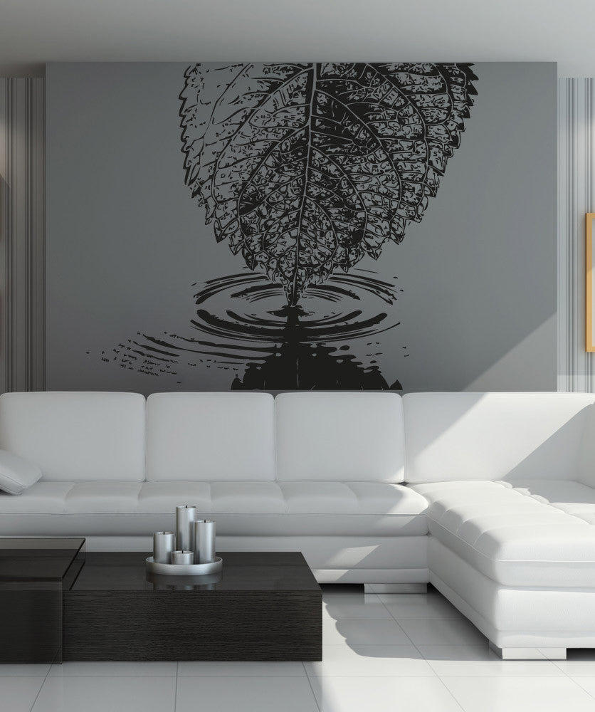 Vinyl Wall Decal Sticker Leaf Water Ripple #OS_AA1549
