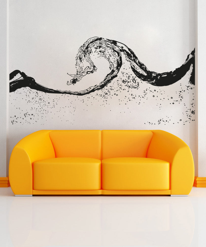 Vinyl Wall Decal Sticker Water Wave Os Aa1551