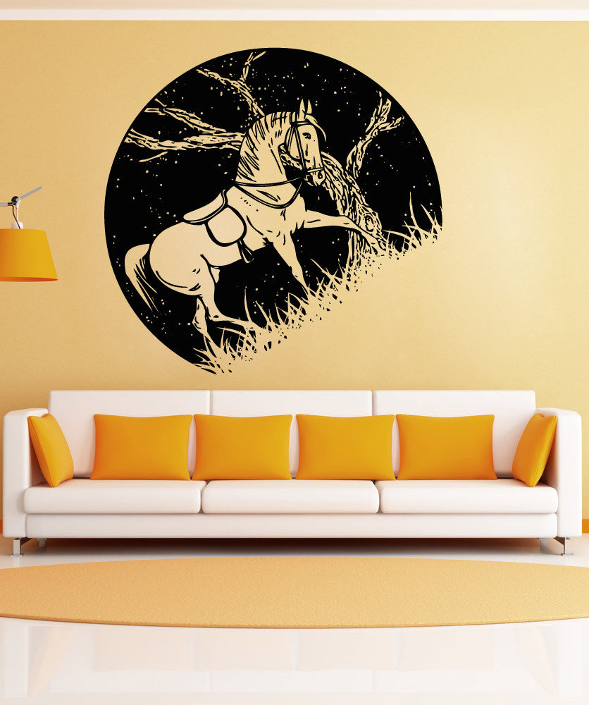 Vinyl Wall Decal Sticker Horse at Night #OS_AA1555
