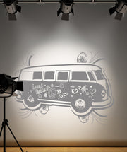 Vinyl Wall Decal Sticker 70's Inspired Hippy Van #OS_AA155