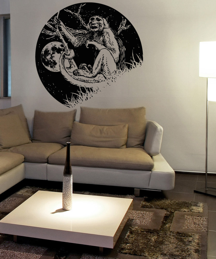 Vinyl Wall Decal Sticker Monkey at Night #OS_AA1561