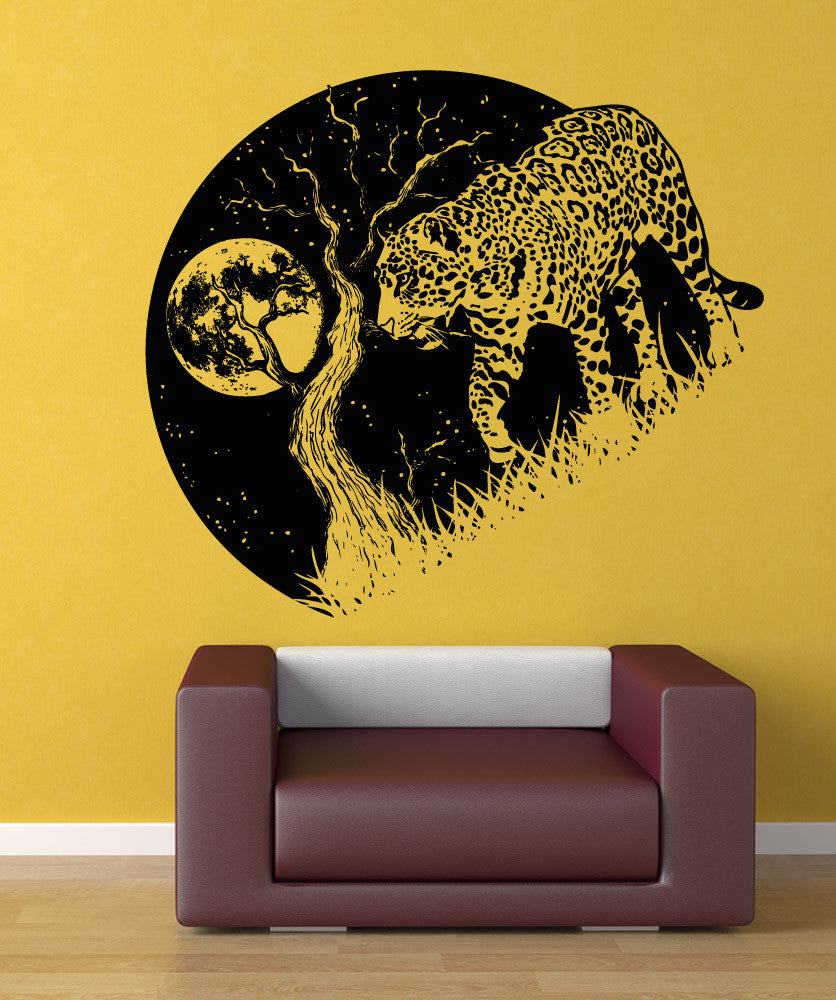 Vinyl Wall Decal Sticker Jaguar at Night #OS_AA1563