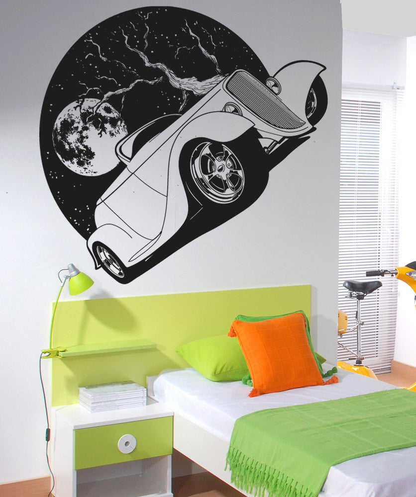 Vinyl Wall Decal Sticker Night Driving #OS_AA1564