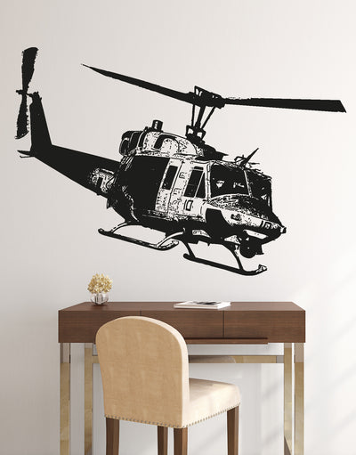 Military Huey Helicopter Vinyl Wall Decal Sticker. #OS_AA1651