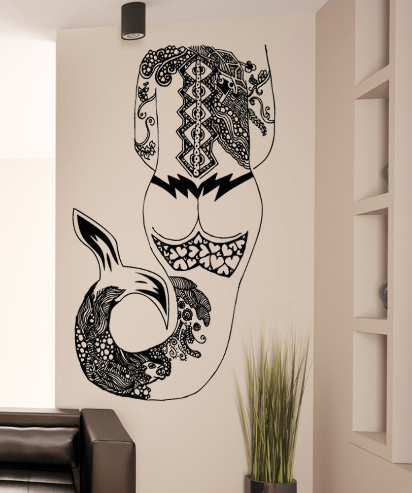 Vinyl Wall Decal Sticker Tattooed Mermaid #OS_AA1687