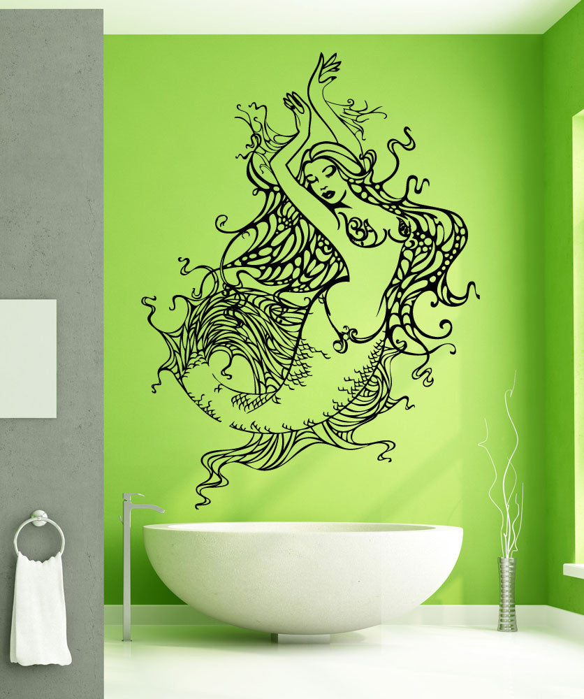 Mermaid Wall Decal Mermaid Stickers For Walls Stickerbrand