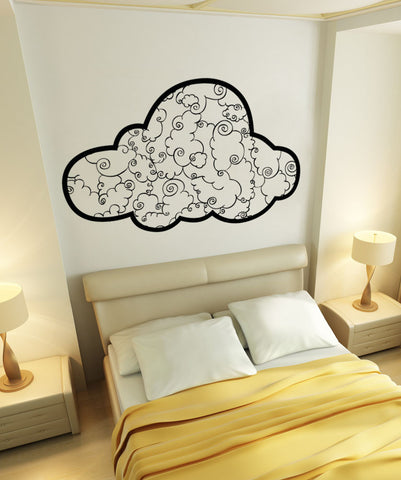 Vinyl Wall Decal Sticker Swirl Clouds #OS_AA1697