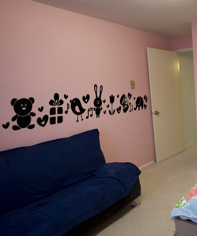 Vinyl Wall Decal Sticker Cute Nature Line #OS_AA1701