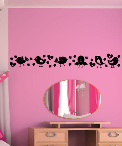 Vinyl Wall Decal Sticker Cute Bird Line #OS_AA1706