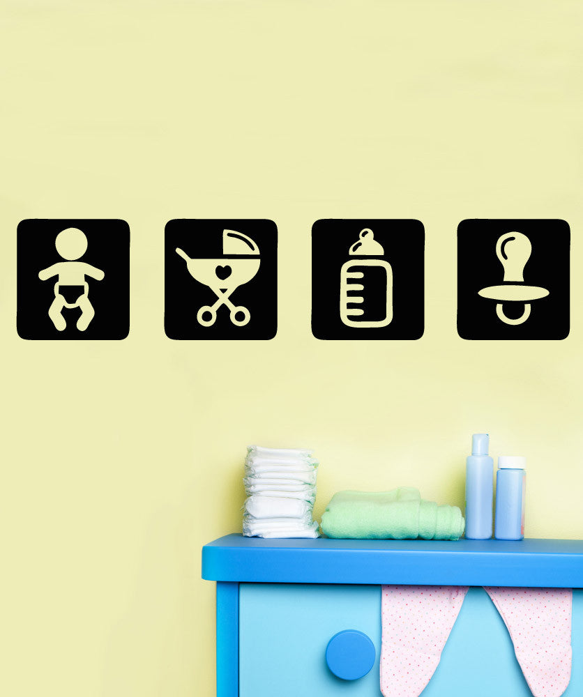 Vinyl Wall Decal Sticker Baby Icon Squares #OS_AA1710