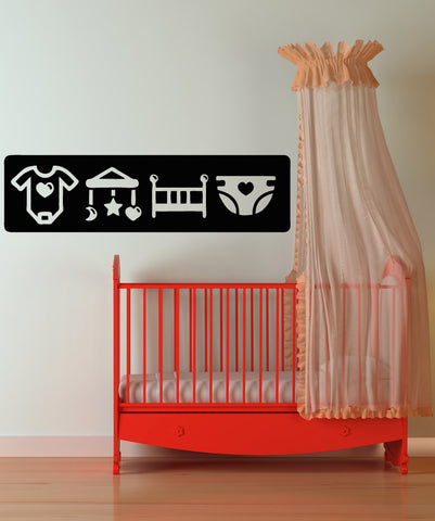 Vinyl Wall Decal Sticker Baby Icons #OS_AA1711
