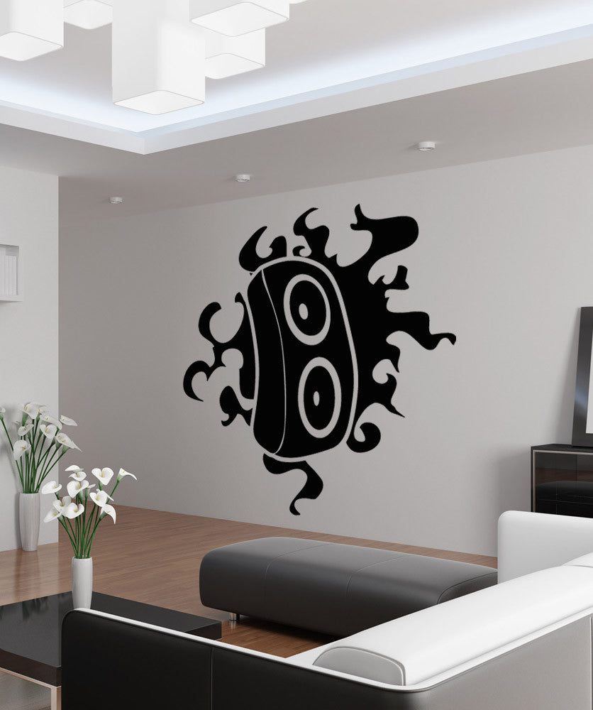 Vinyl Wall Decal Sticker Speaker Flame Design #OS_AA1712