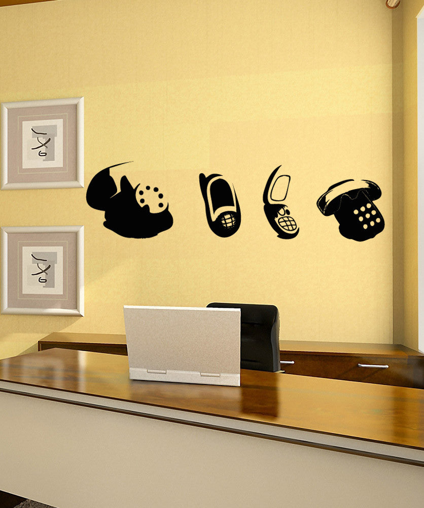 Vinyl Wall Decal Sticker Old Phones #OS_AA1716