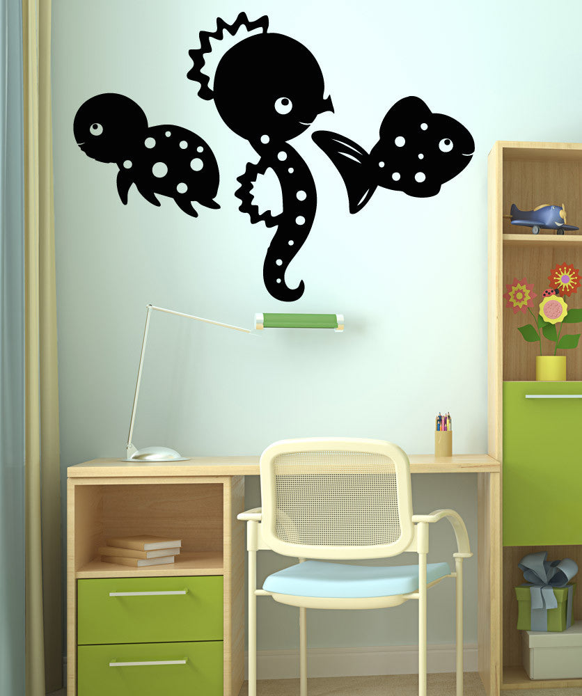 Vinyl Wall Decal Sticker Little Under the Sea Creatures #OS_AA1718