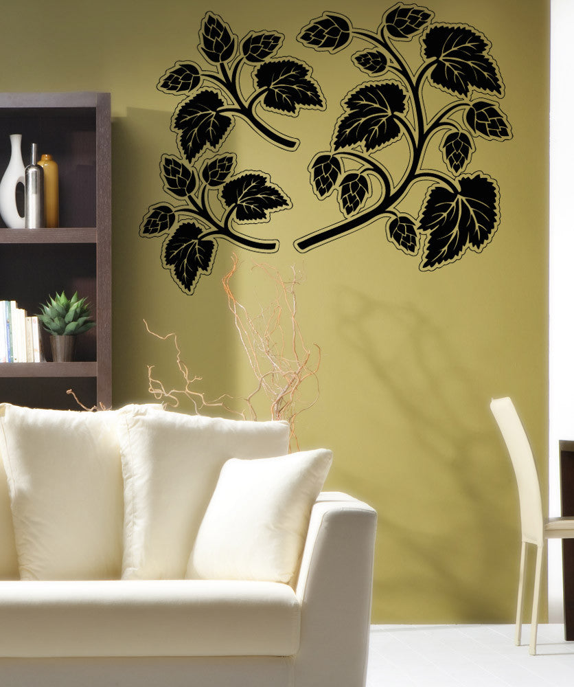 Vinyl Wall Decal Sticker Twigs and Leaves #OS_AA1719