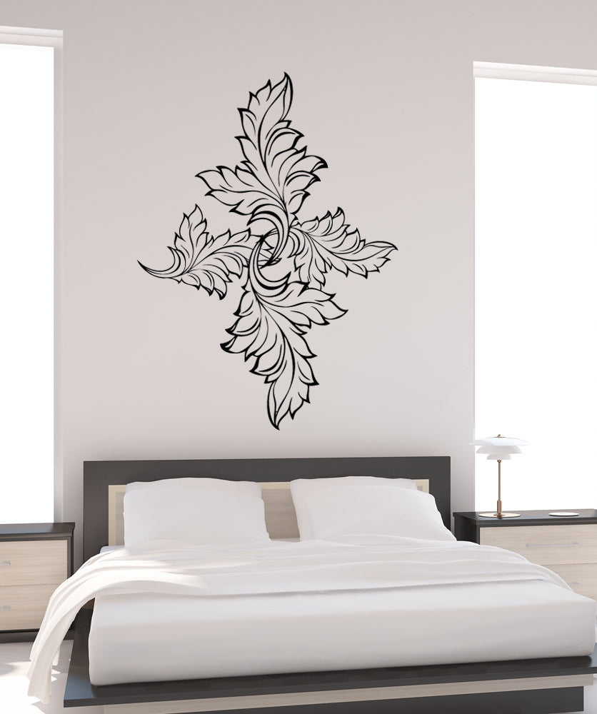 Vinyl Wall Decal Sticker Leaves Diamond Design OSAA - Wall decals leaves