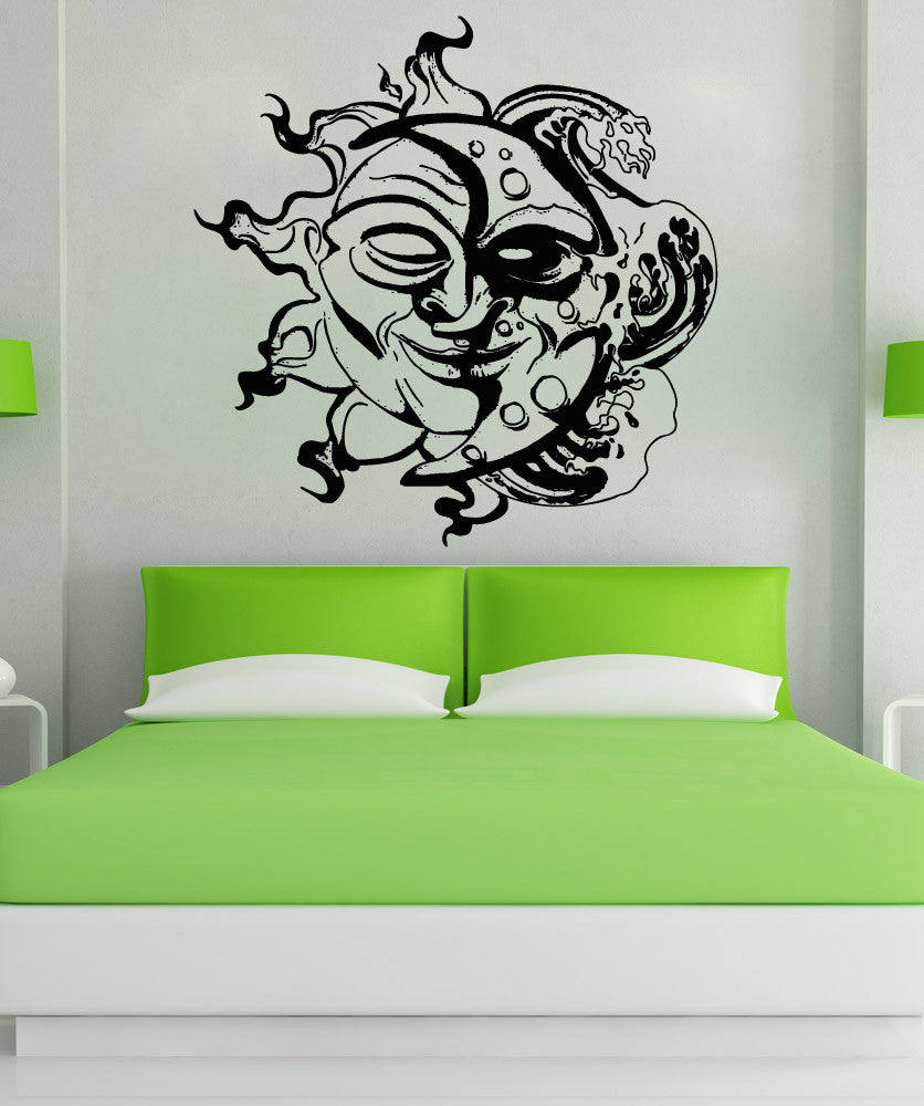 vinyl wall decal sticker sun and moon design osaa -