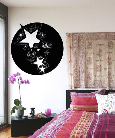 Vinyl Wall Decal Sticker Circle of Stars Design #OS_AA1729