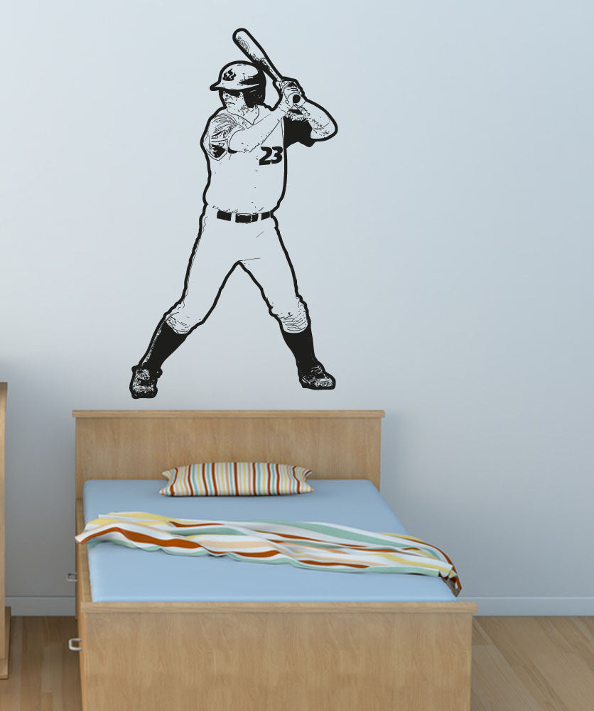 Vinyl Wall Decal Sticker Baseball Player #OS_AA178