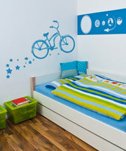 Vinyl Wall Decal Sticker Bike with Stars #OS_AA182