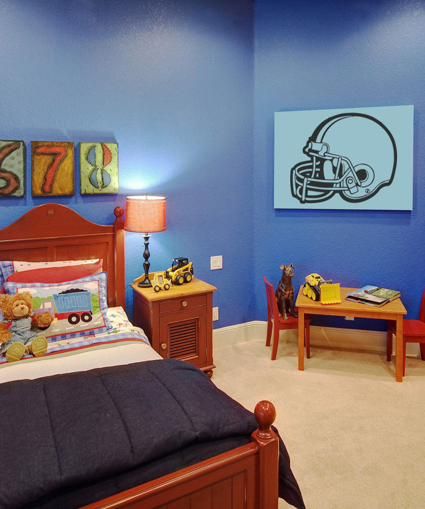 Vinyl Wall Decal Sticker Football Helmet #OS_AA190