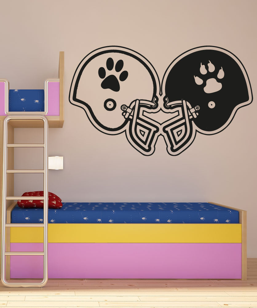 Vinyl Wall Decal Sticker Rival Football Helmets #OS_AA191