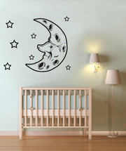Vinyl Wall Decal Sticker Moon and Stars #OS_AA192
