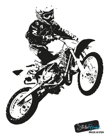 Vinyl Wall Decal Sticker Motocross Rider #OS_AA194