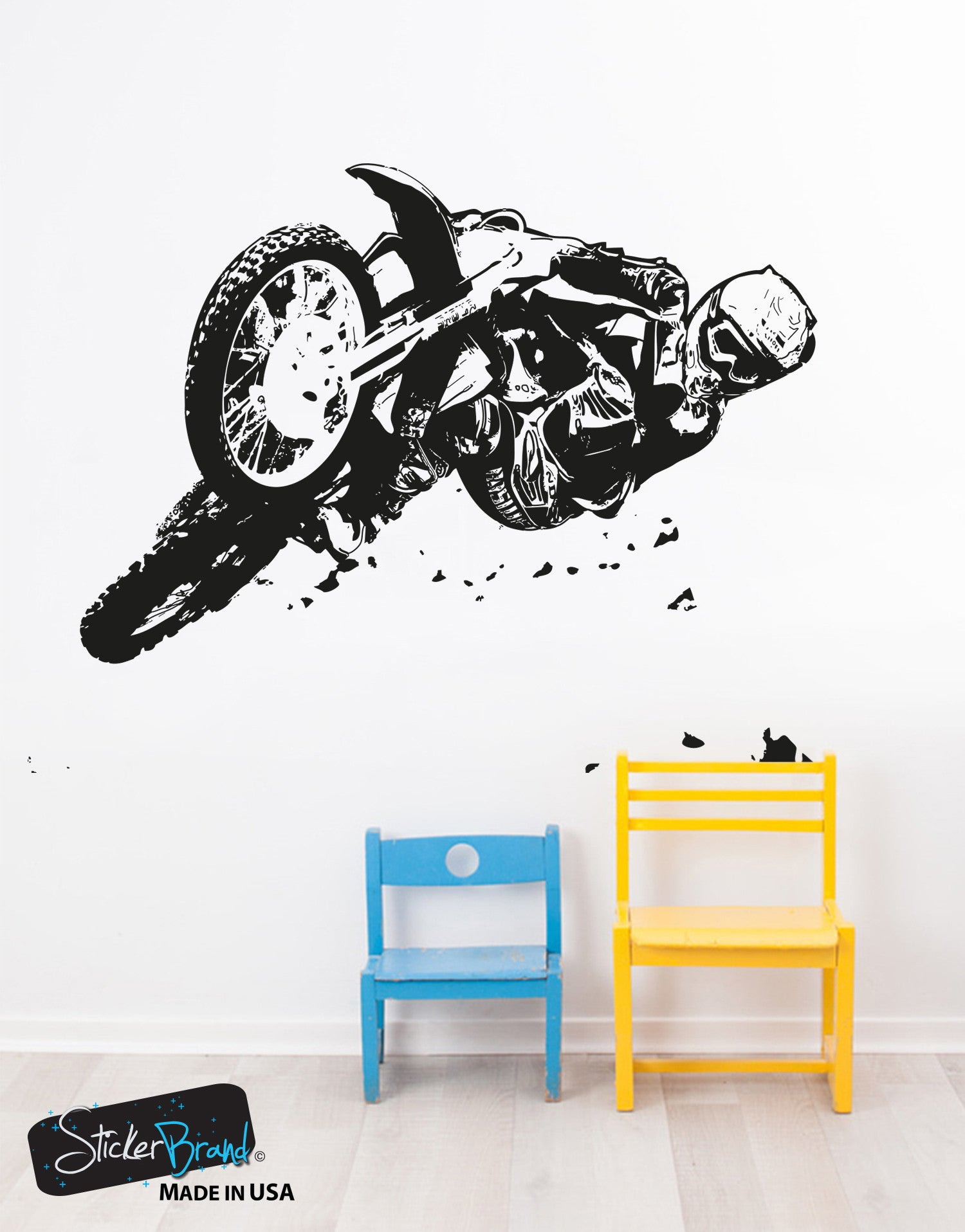 Vinyl Wall Decal Sticker Motocross Riding #OS_AA196