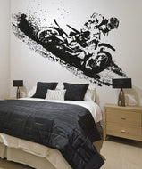 Vinyl Wall Decal Sticker Motocross Rider #OS_AA197