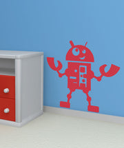 Vinyl Wall Decal Sticker Little Robot #OS_AA202