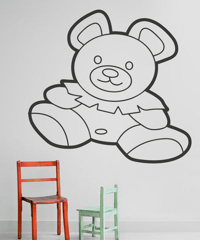 Vinyl Wall Decal Sticker Chubby Teddy Bear #OS_AA208