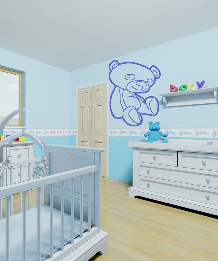 Vinyl Wall Decal Sticker Teddy Bear #OS_AA209