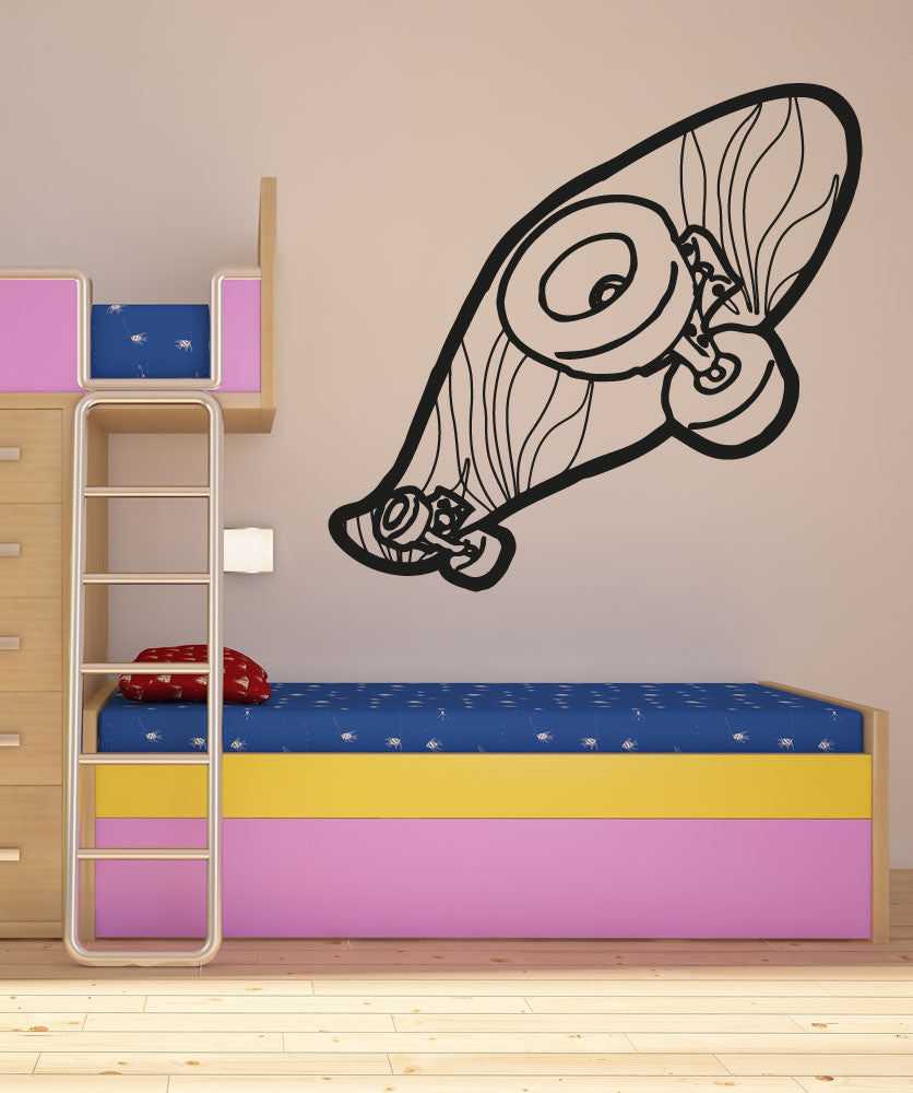 Vinyl Wall Decal Sticker Toy Skateboard #OS_AA210