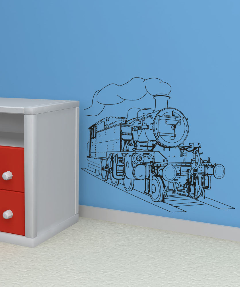 Vinyl Wall Decal Sticker Train Engine #OS_AA211