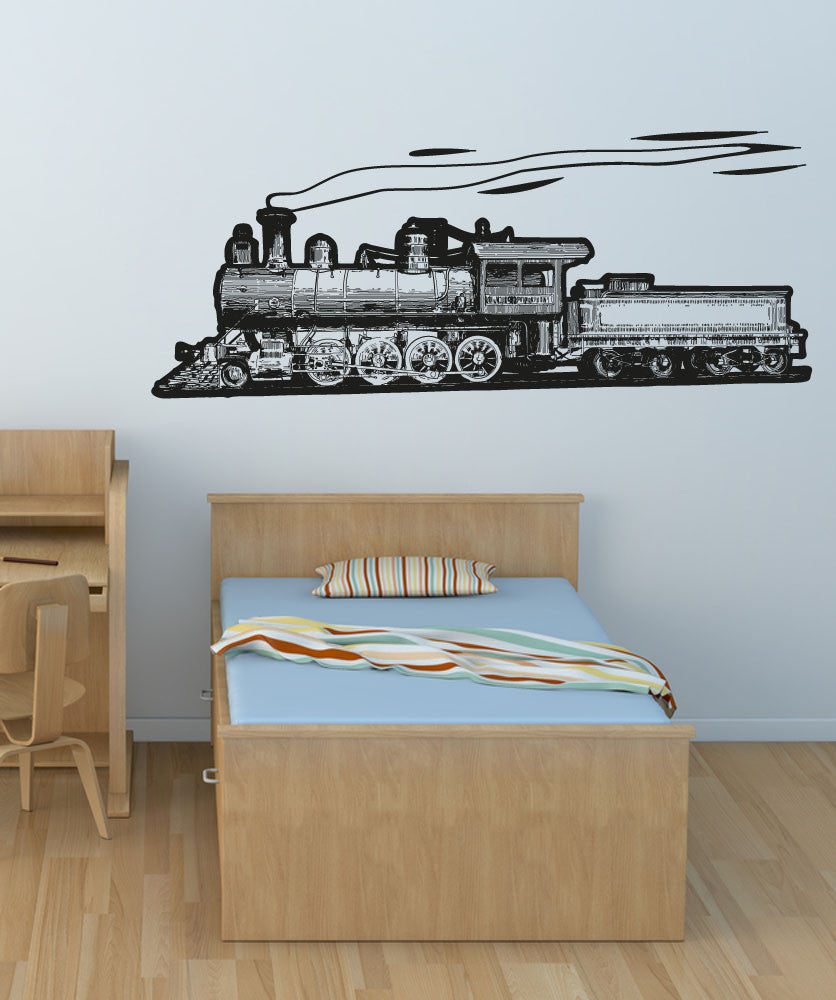 Vinyl Wall Decal Sticker Moving Train #OS_AA212