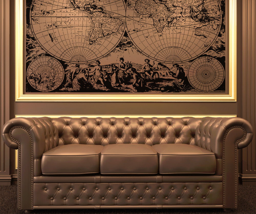 Vinyl Wall Decal Sticker Ancient Nautical World Map Os Aa322