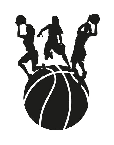 Women's Basketball Player Shooting Vinyl Wall Decal Sticker. #OS_AA505