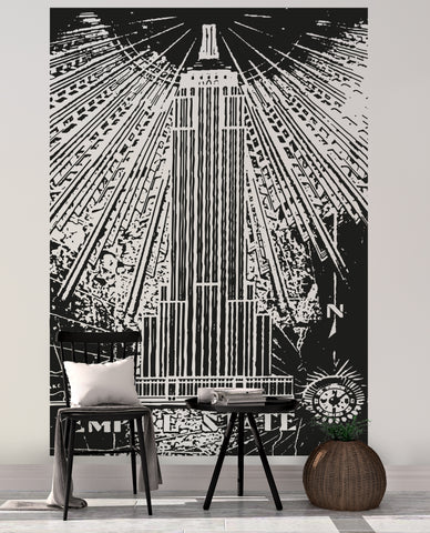 Empire State Building Vinyl Wall Decal Sticker. #OS_AA551