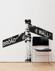 Wall Street Sign Wall Decal.  #OS_AA561