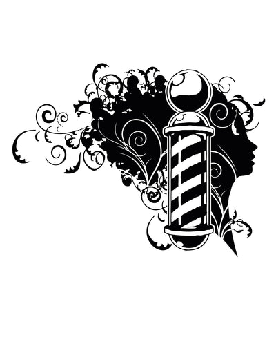 Vinyl Wall Decal Sticker Barbershop Design #OS_AA594