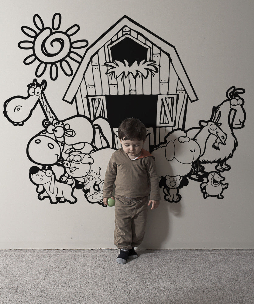 Vinyl Wall Decal Sticker Barn Animals #OS_AA637