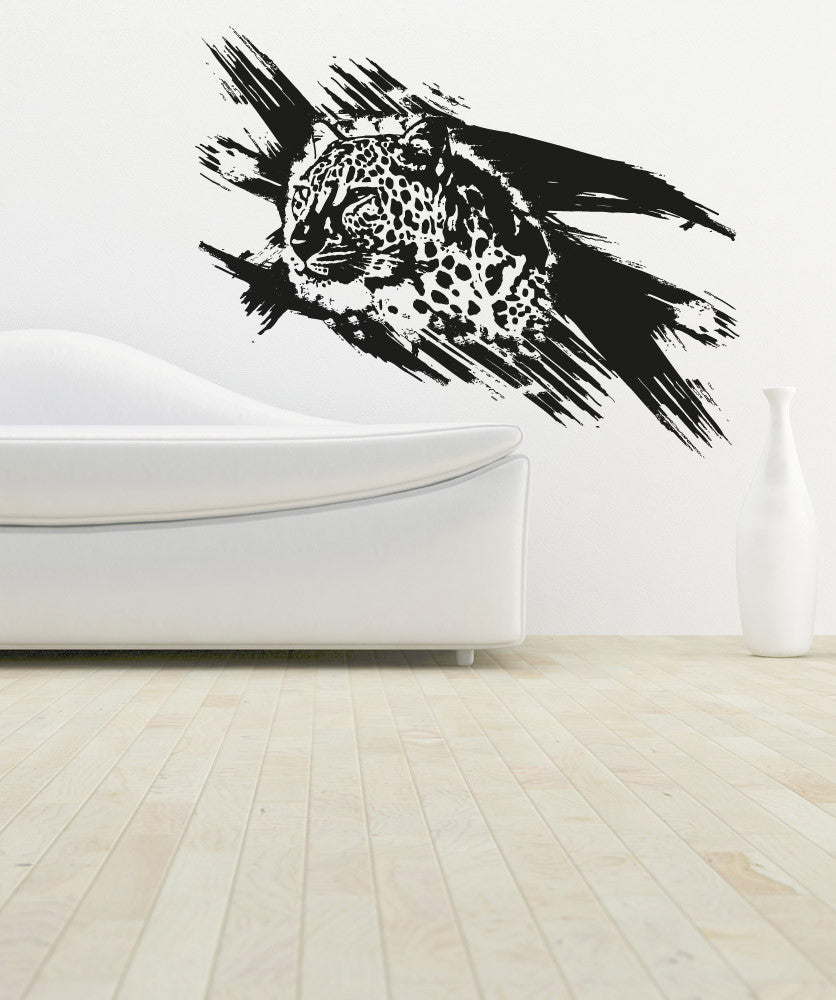 Vinyl Wall Decal Sticker Leopard Paint Strokes #OS_AA651