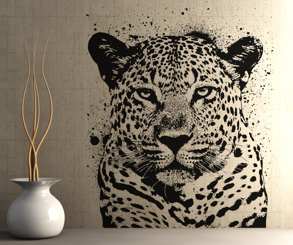 Leopard Bedroom Ideas For Painting: Vinyl Wall Decal Sticker Spray Paint Leopard #OS_AA652