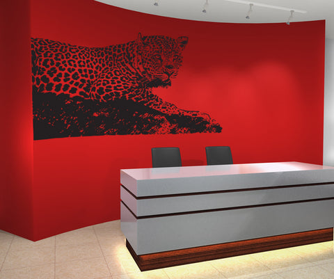Vinyl Wall Decal Sticker Leopard #OS_AA654