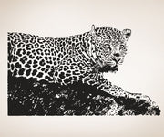 Leopard Wall Decal. Safari wildlife home decor. #OS_AA654